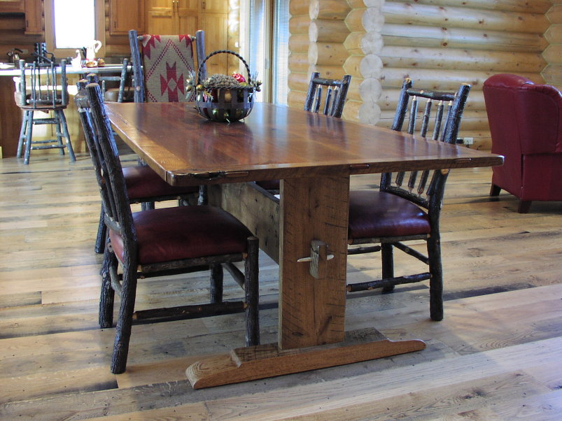 Image of: antique trestle table