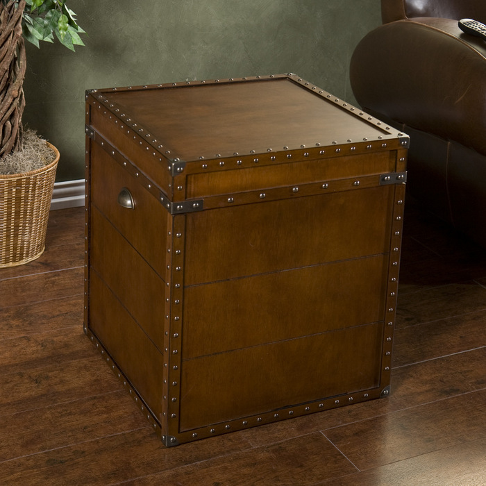 Image of: antique trunk end table