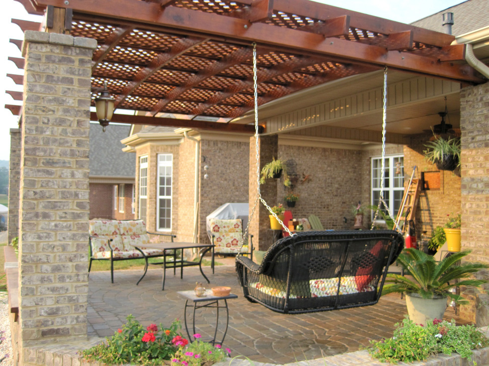 Image of: attached pergola designs