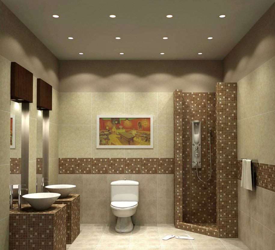 Image of: bathroom lighting decorating ideas