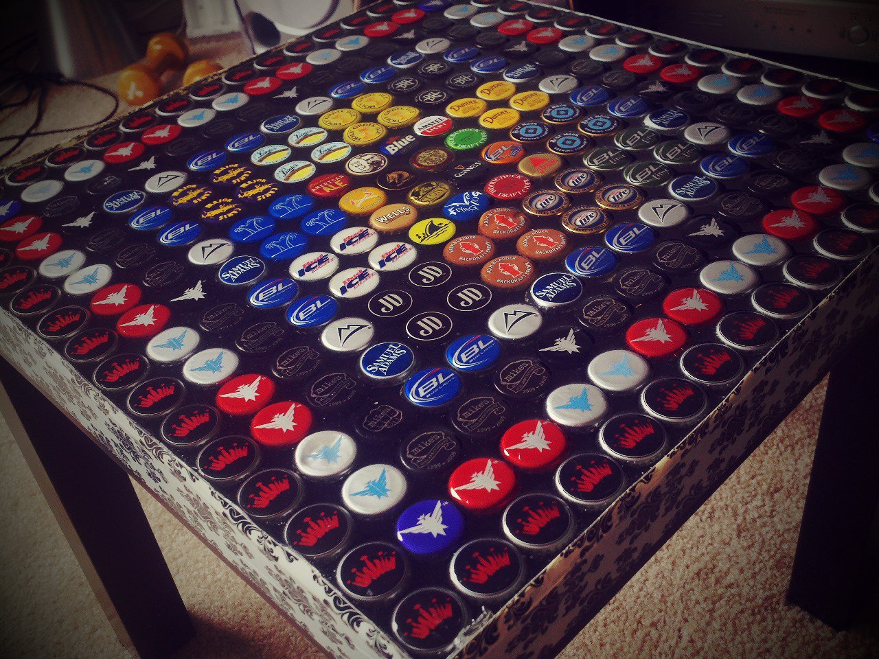 Image of: beer cap coffee table