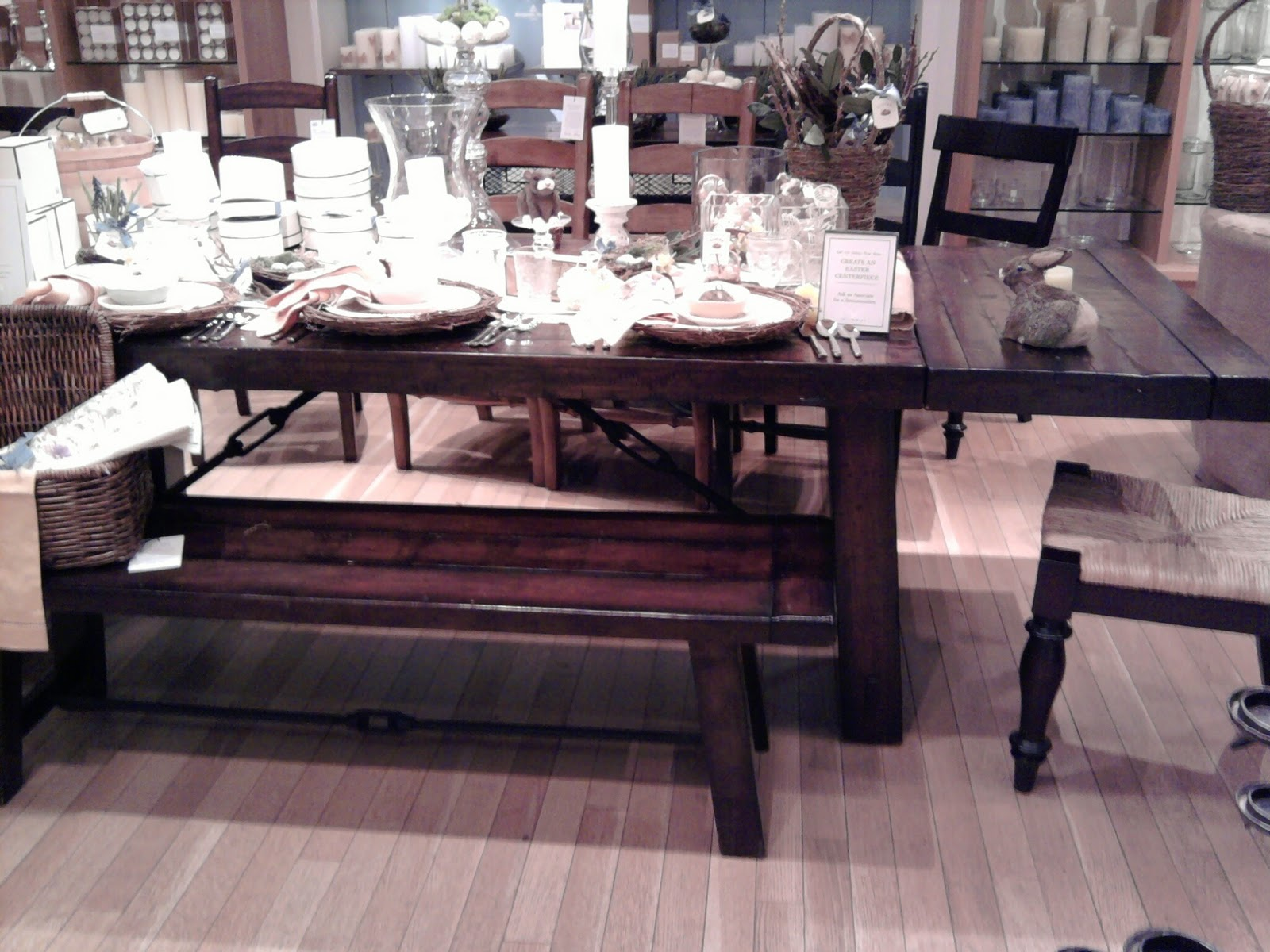 Image of: benchwright kitchen table