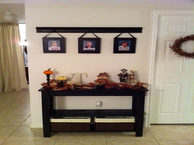 black foyer table
