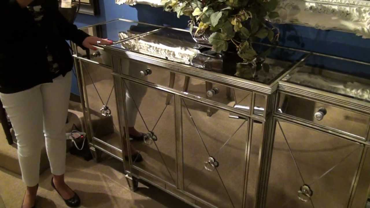 Image of: borghese mirrored buffet table