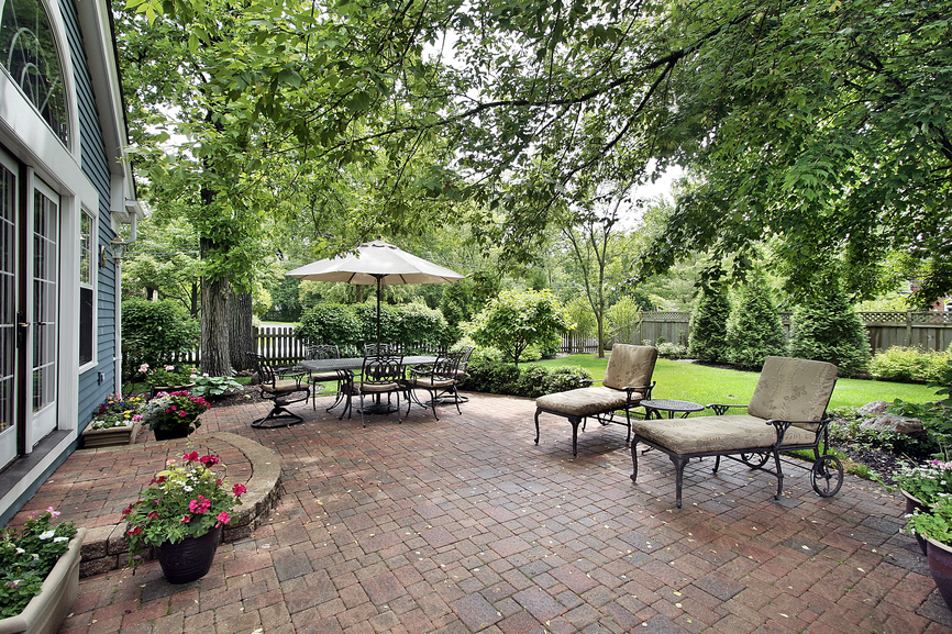Image of: brick patio design ideas
