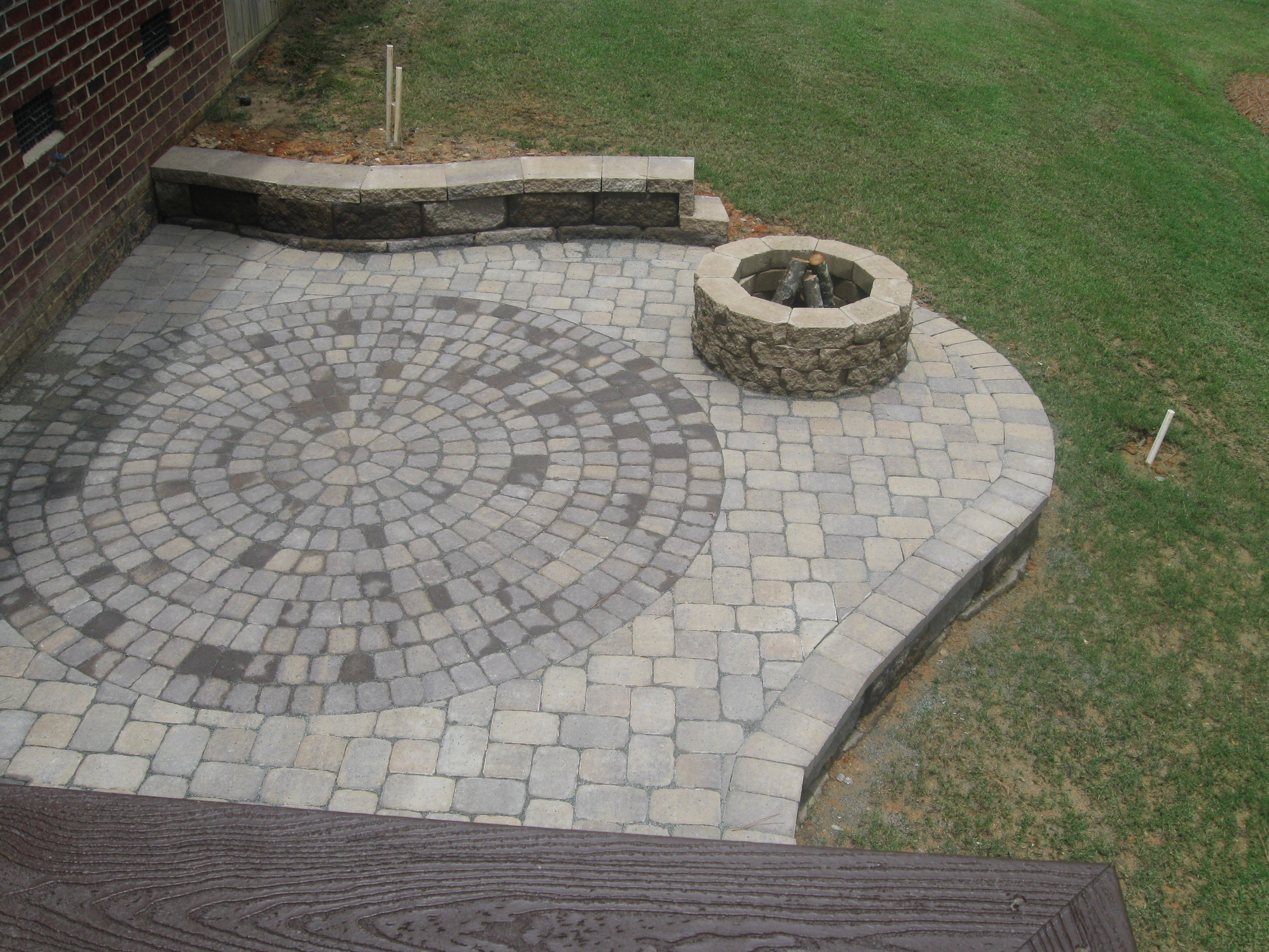 Image of: brick patio design pictures
