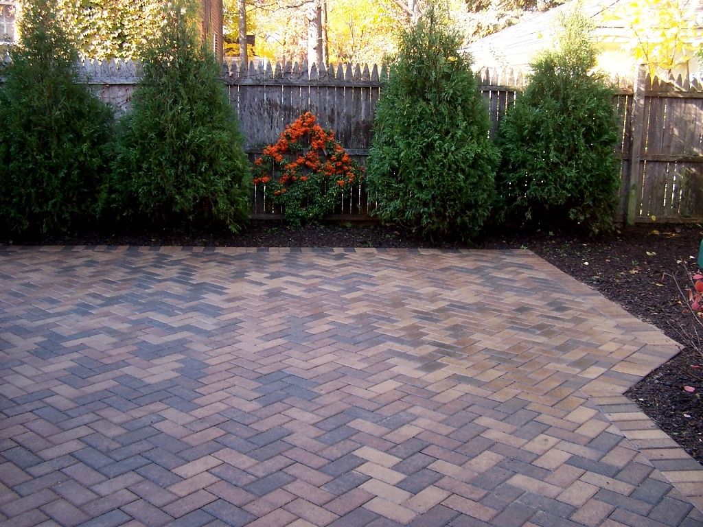 Image of: brick patios designs