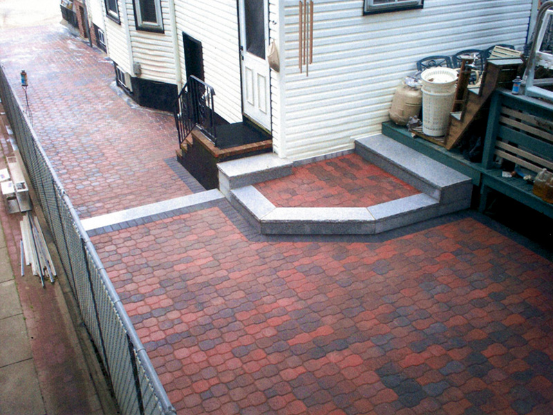Image of: brick paver patio design