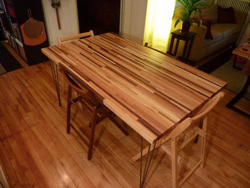 Image of: butcher block kitchen table and chairs