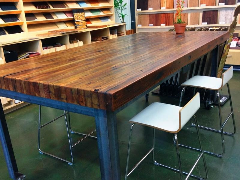 Image of: butcher block kitchen table