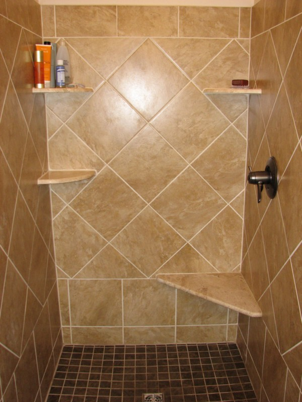 Image of: ceramic tile shower designs