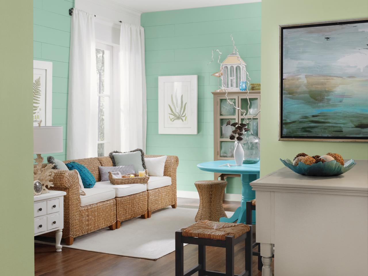Image of: coastal living decorating with color