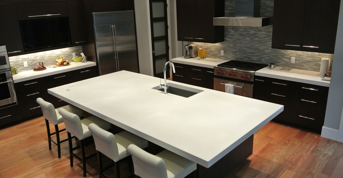 Image of: concrete countertops for kitchen