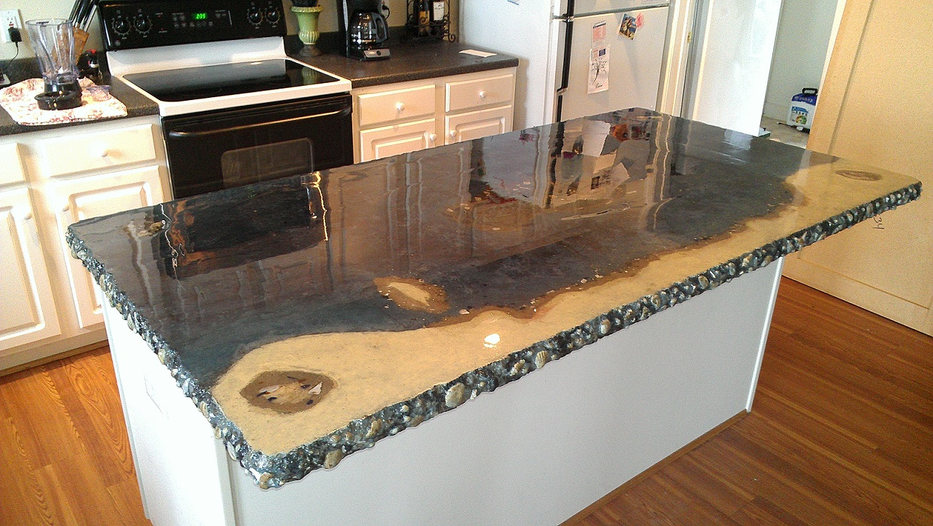 Image of: concrete kitchen countertops do it yourself