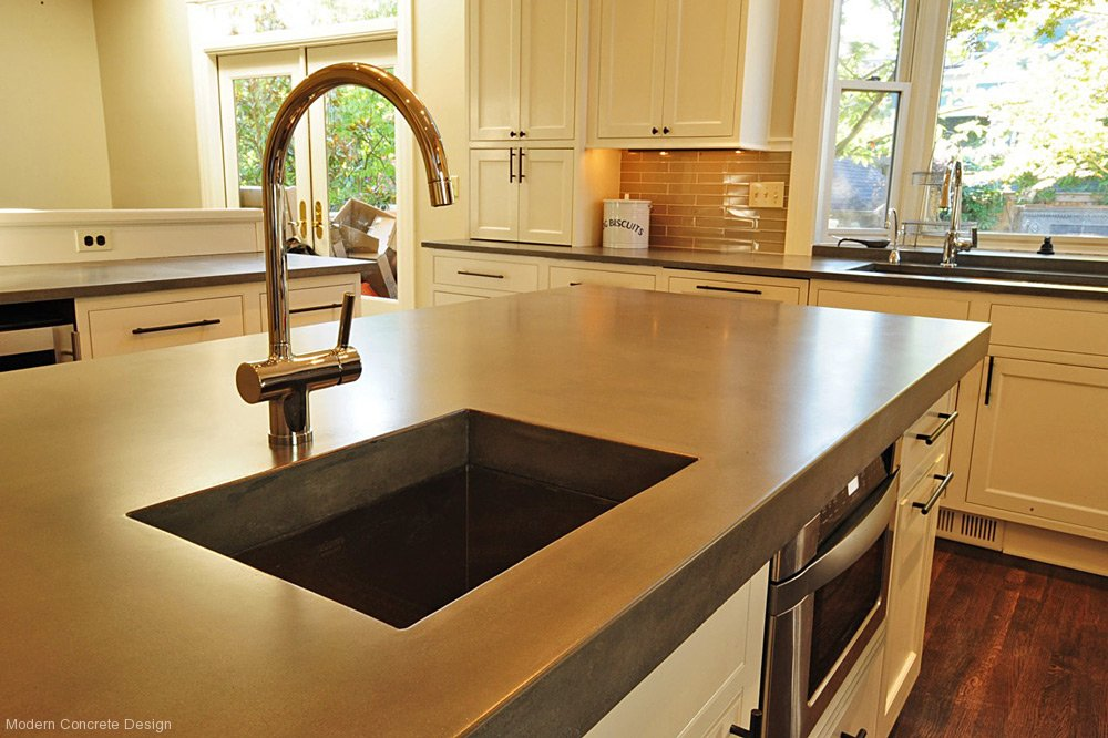 Image of: concrete kitchen countertops seattle