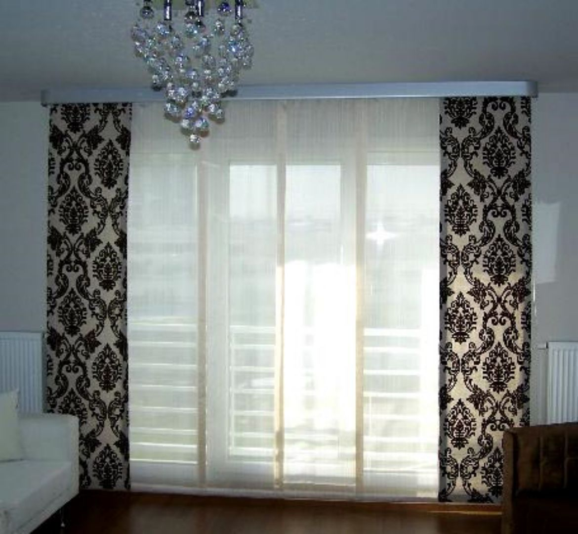 contemporary kitchen drapes