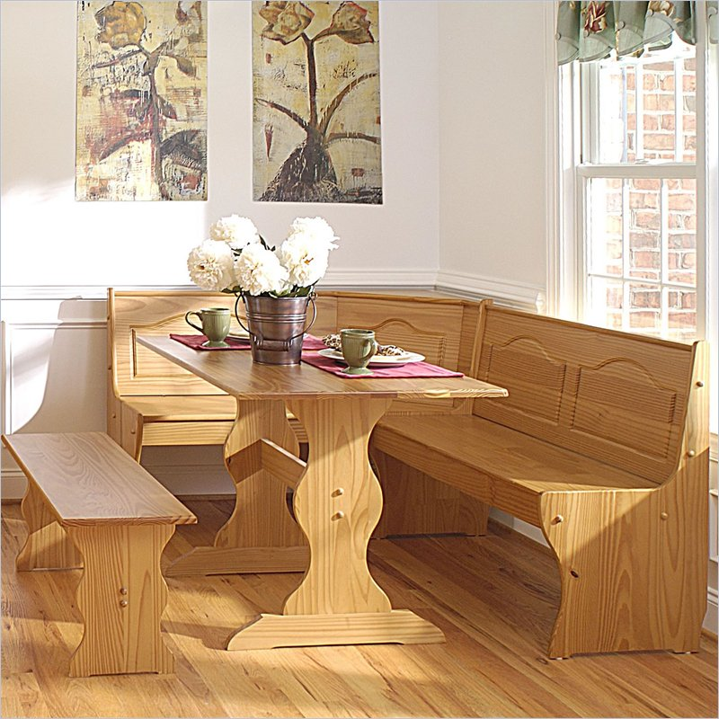 Image of: corner booth kitchen table plans