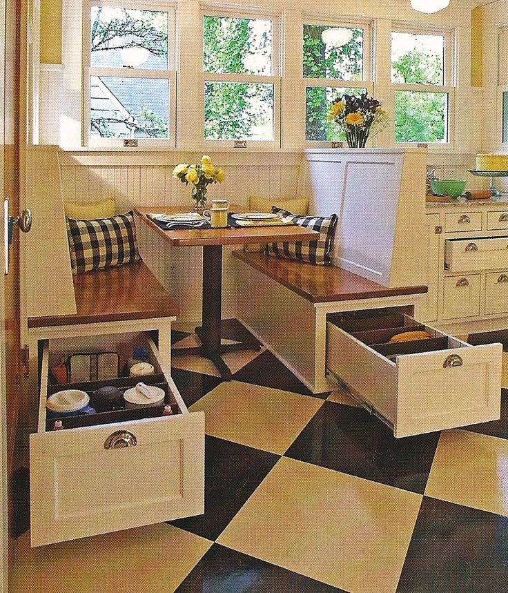 Image of: corner booth kitchen table with storage