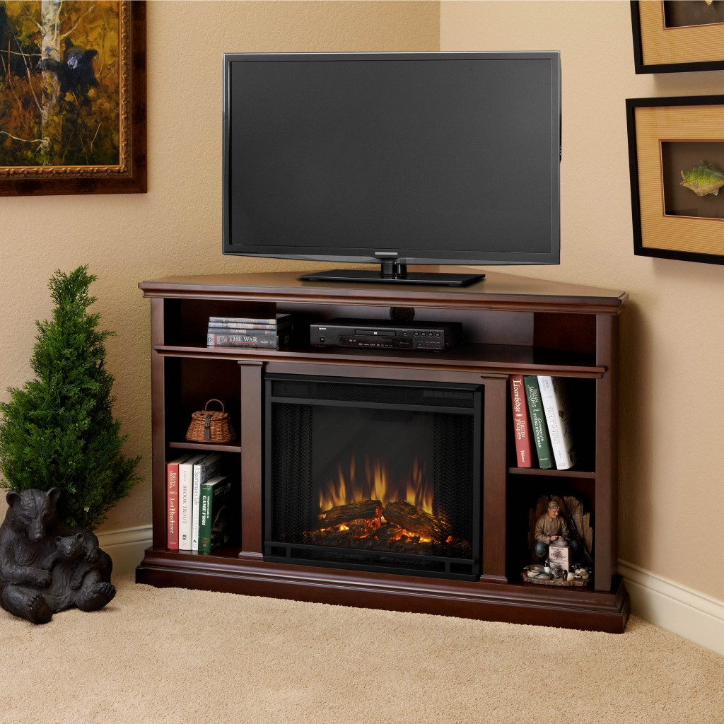 corner fireplace cabinet design
