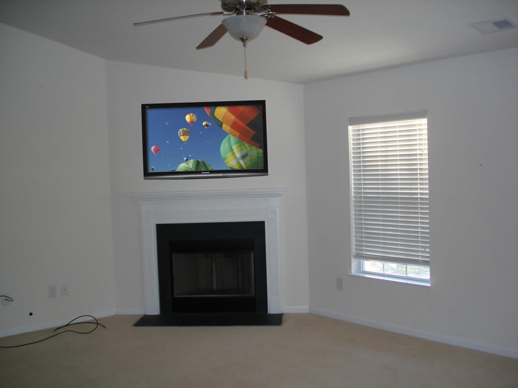 corner fireplace designs tv above