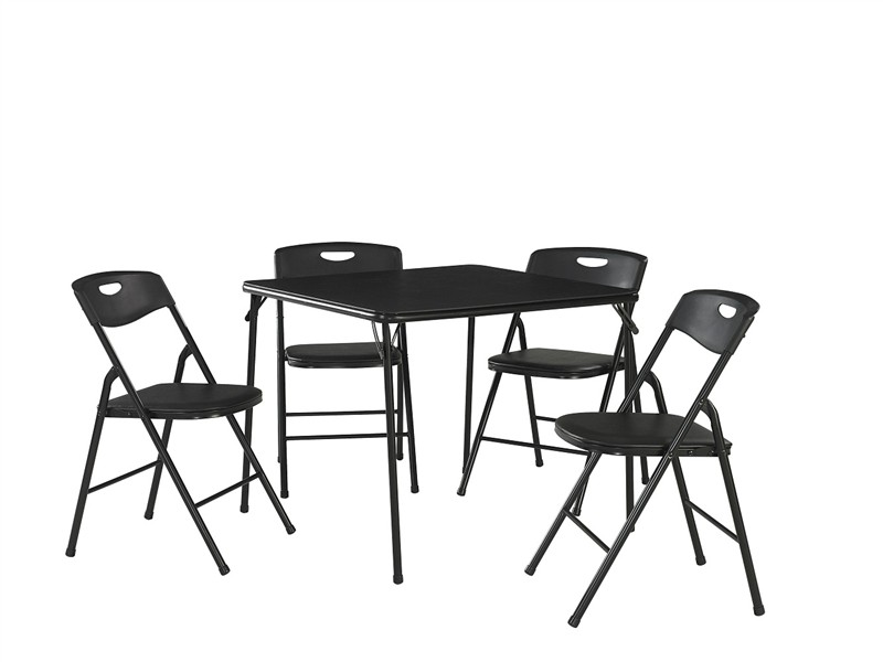 Image of: cosco folding table and chairs black