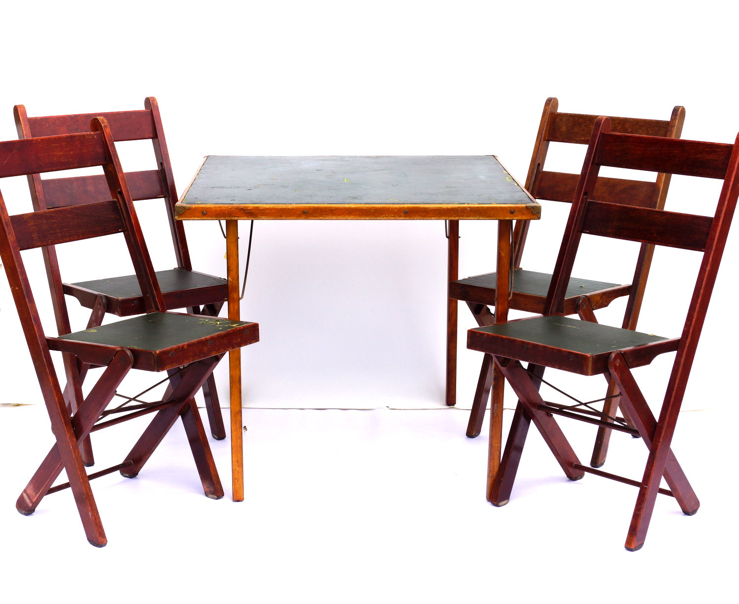 Image of: cosco mahogany folding table and chairs