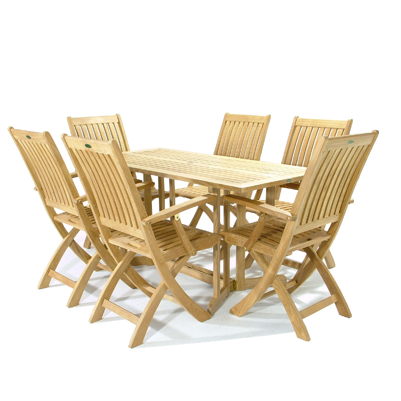 Image of: cosco wood folding table and chairs