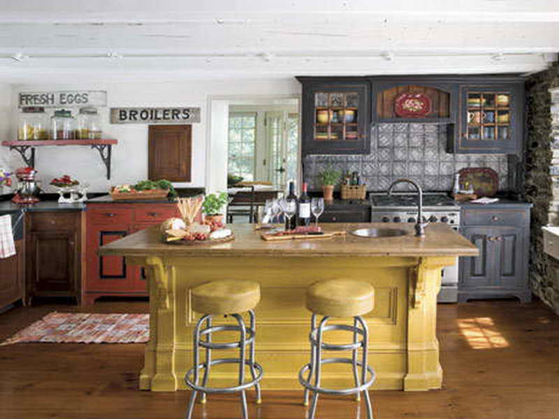 Image of: country american kitchens