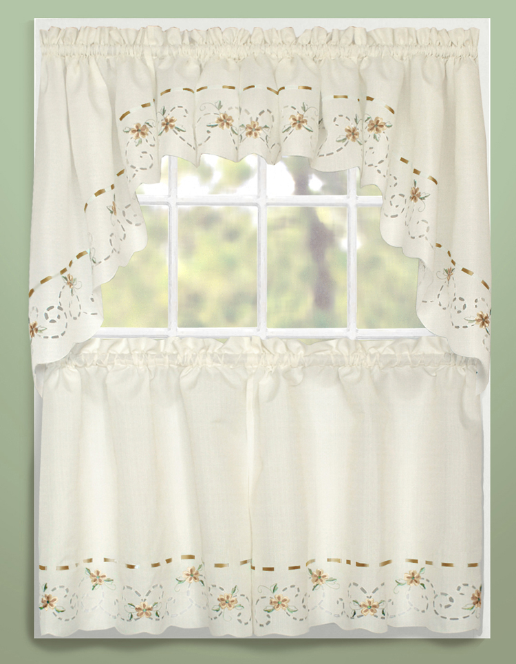 Image of: country kitchen drapes