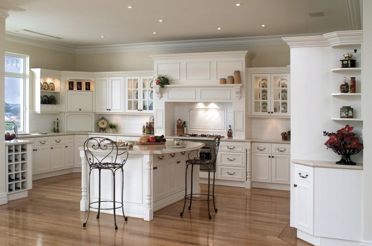Image of: country kitchens cabinets