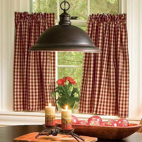 Image of: country kitchens curtains