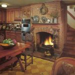 country kitchens with fireplaces