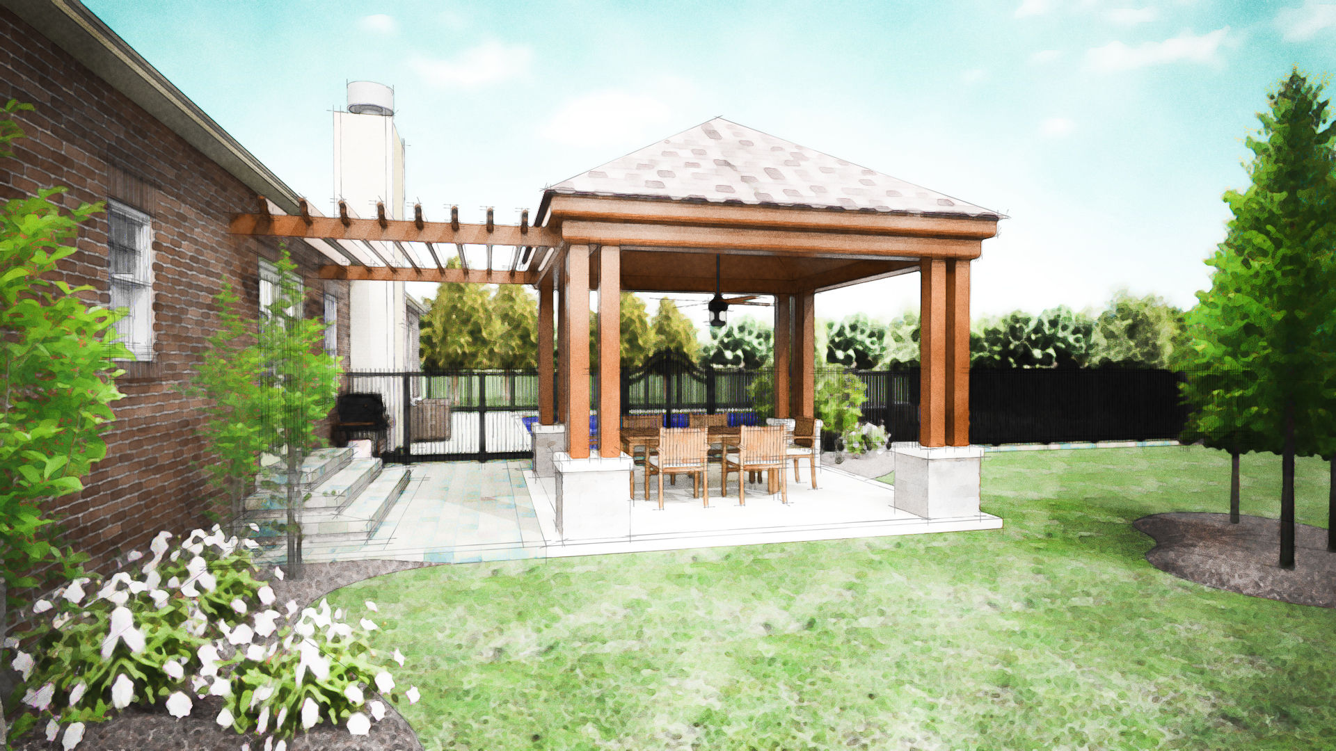 Image of: covered patio design