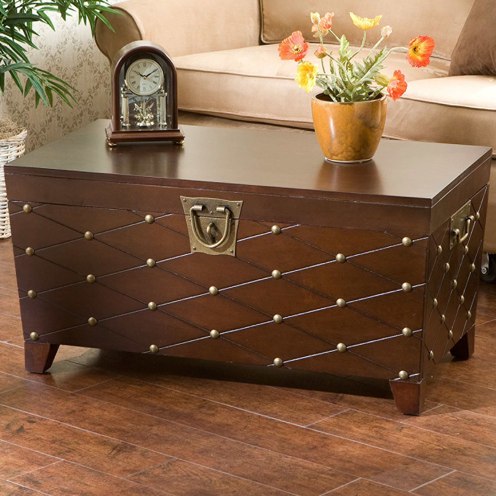 Image of: crate and barrel trunk end table