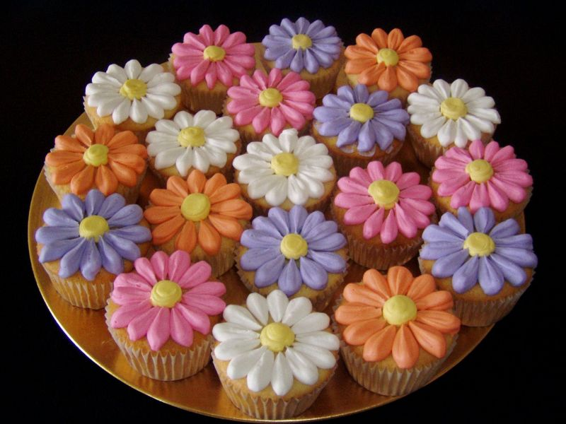 Image of: cupcake decorating ideas flowers