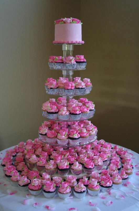 Image of: cupcake decorating ideas for a wedding