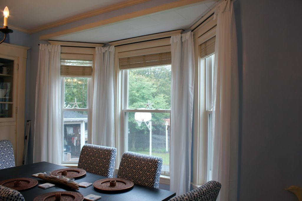 Image of: curtain designs bay windows