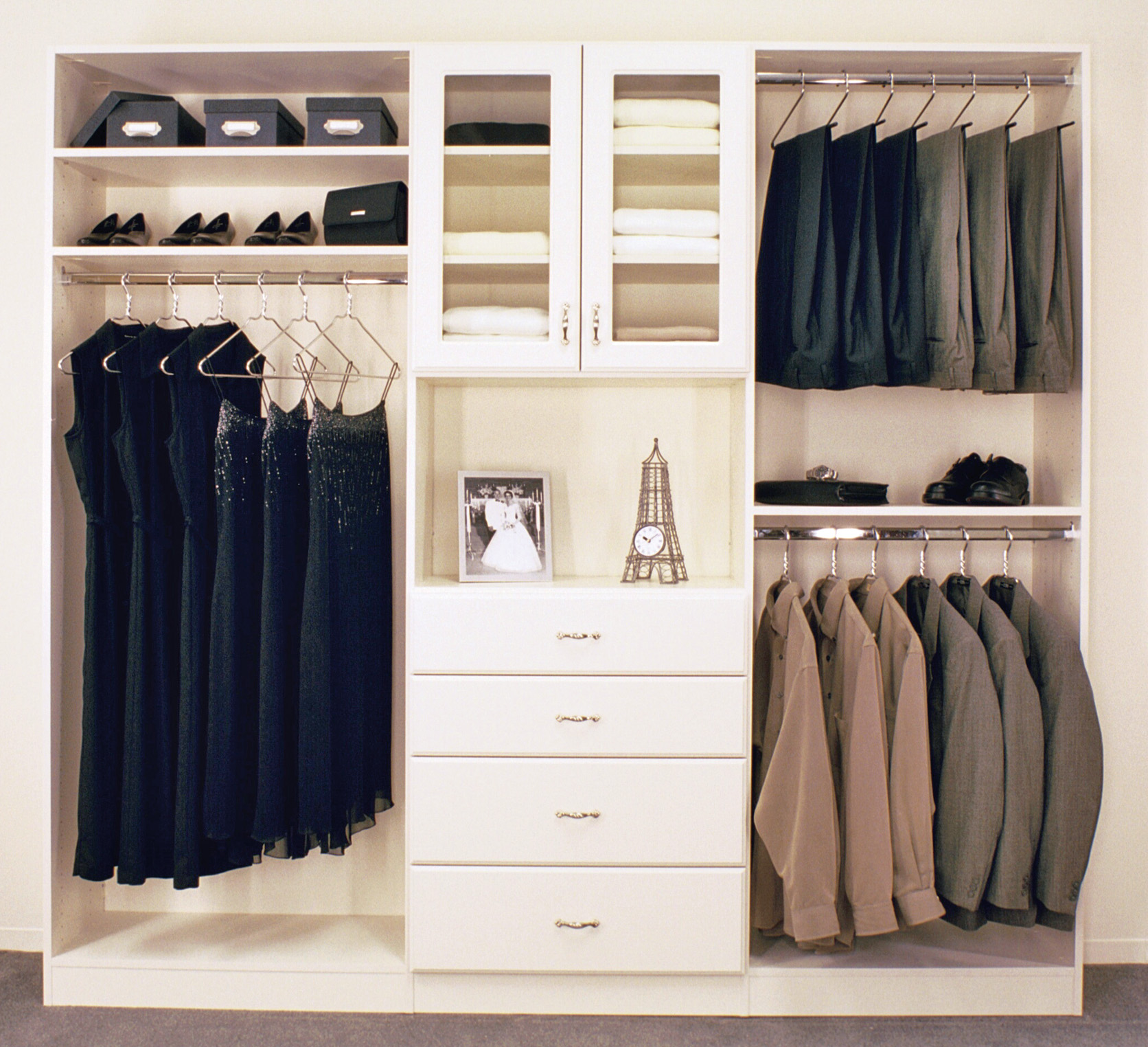 Image of: custom reach in closet design