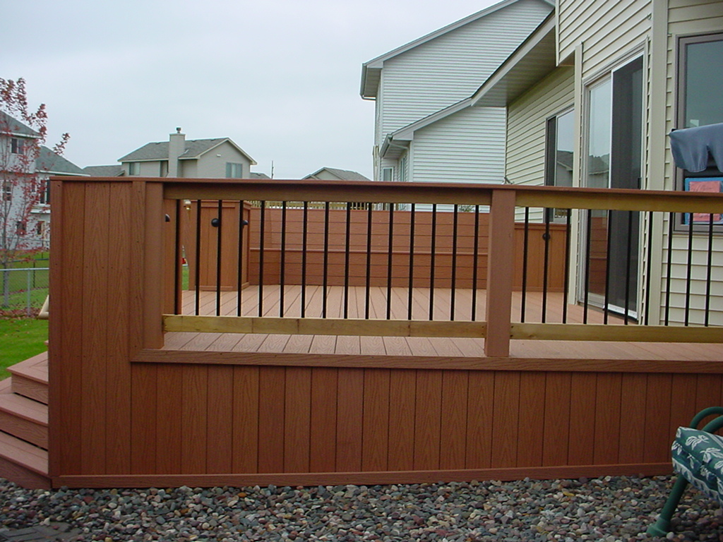 Image of: deck handrail design