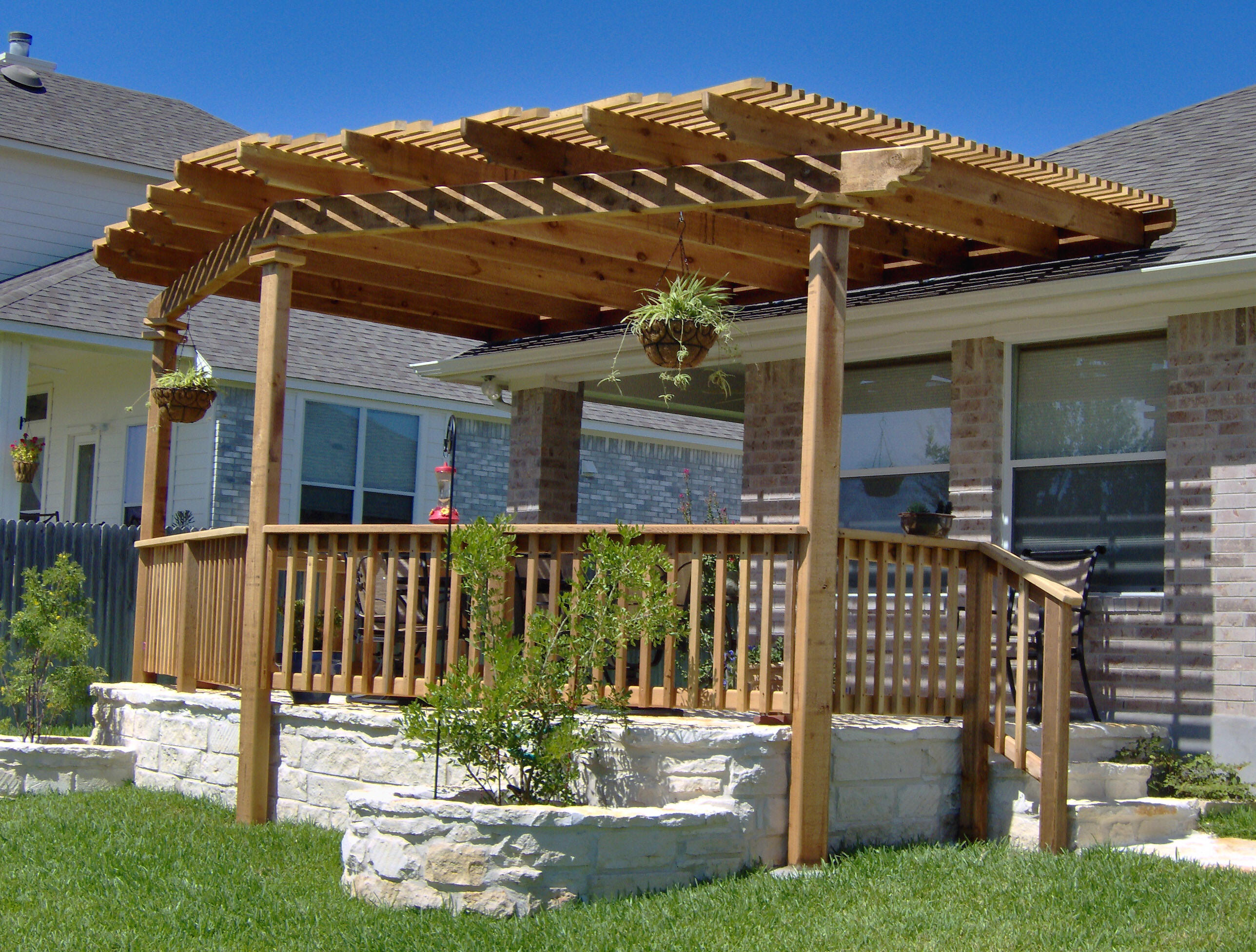 Image of: deck pergola designs
