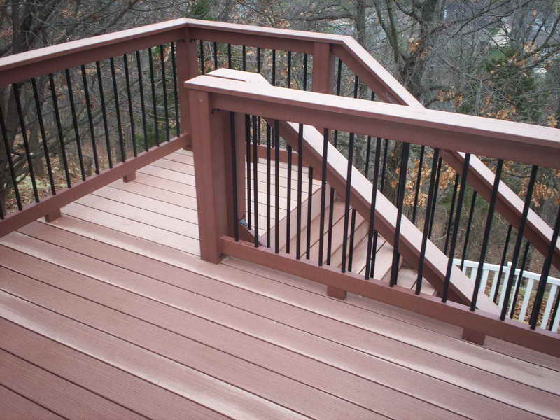 Image of: deck stair handrail designs