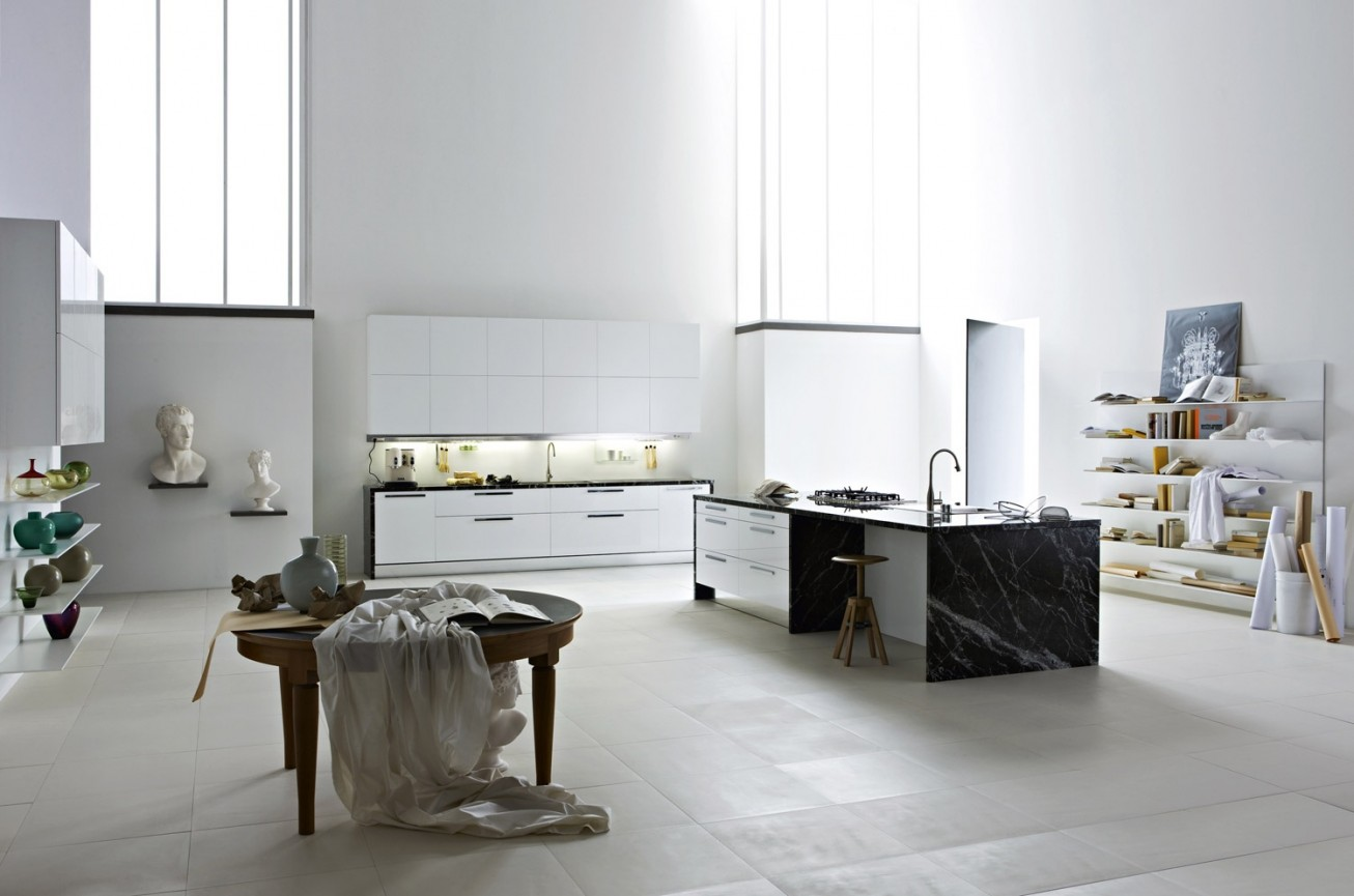 Image of: decorating open kitchen cabinets