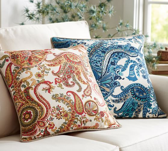 decorative pillows at pottery barn