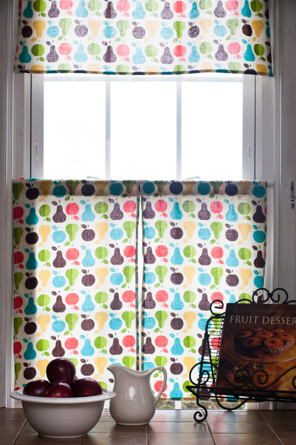 Image of: diy kitchen drapes