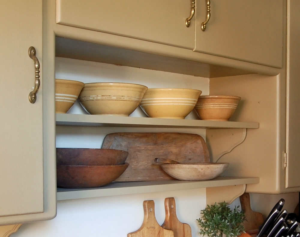 Image of: diy open shelving in kitchen