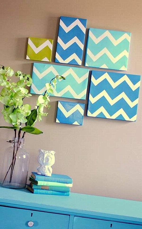 Image of: diy wall art decor ideas