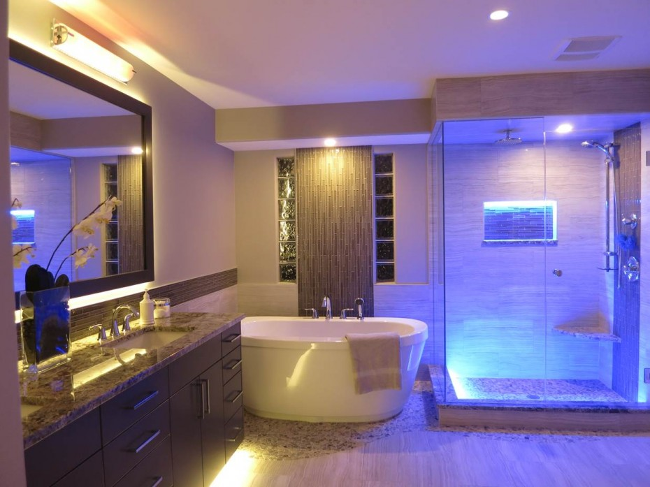Image of: do it yourself bathroom lighting ideas