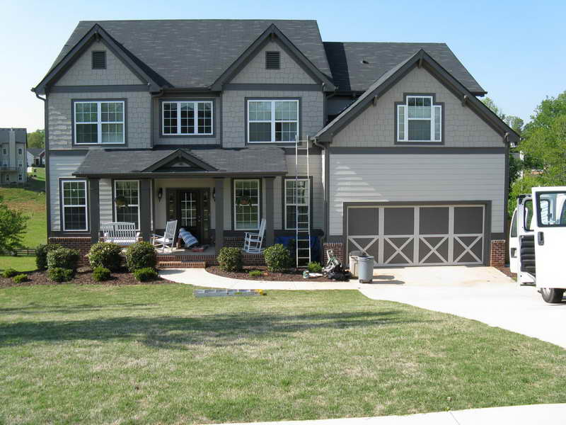 Image of: exterior paint ideas grey