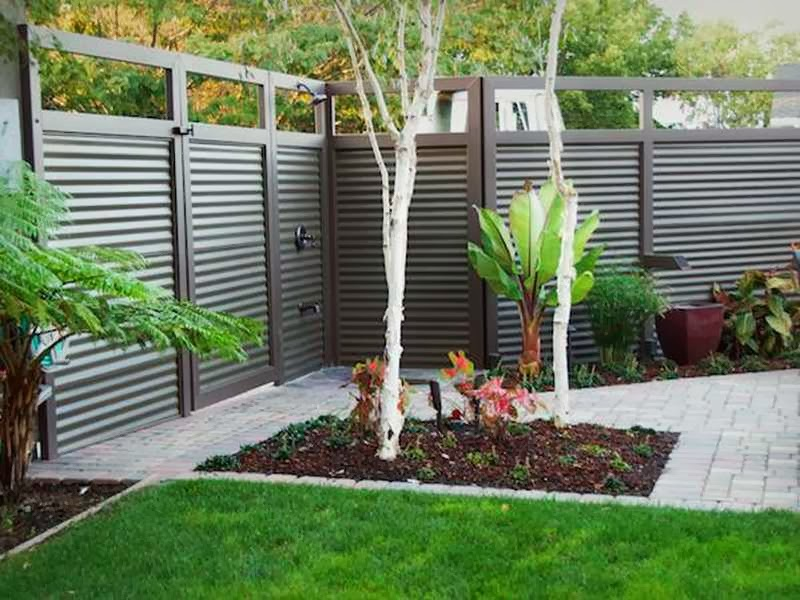 Image of: fence design backyard