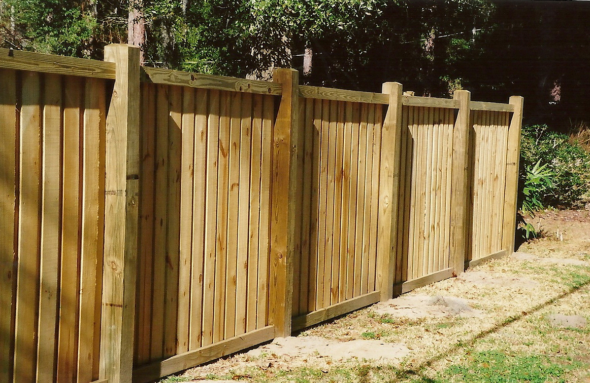 Image of: fence designs board on board